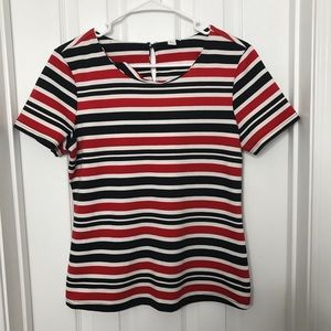 Jules & Leopold Red & Black Striped Shirt